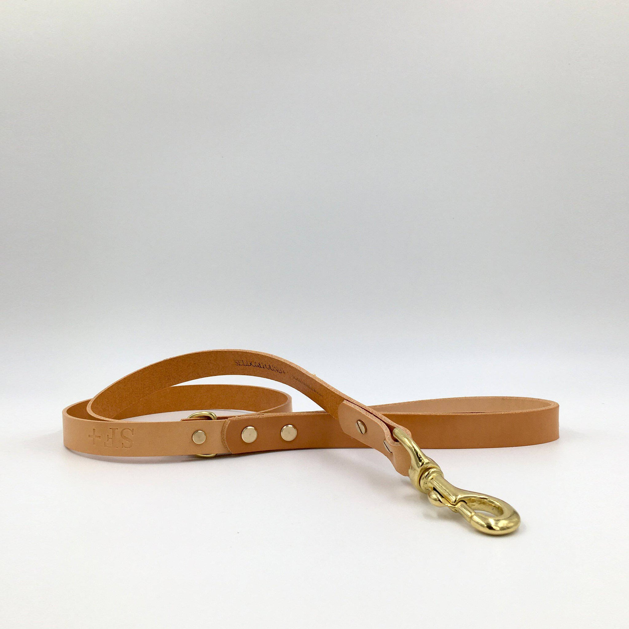 Natural Tan - Leather Lead - [Holler Brighton]