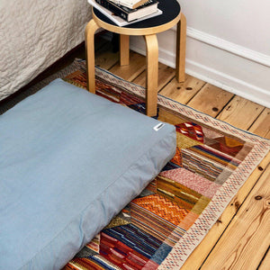Faded Blue -  Cotton Canvas Box Bed - [Holler Brighton]