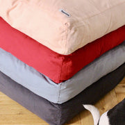 Red -  Cotton Canvas Box Bed - [Holler Brighton]