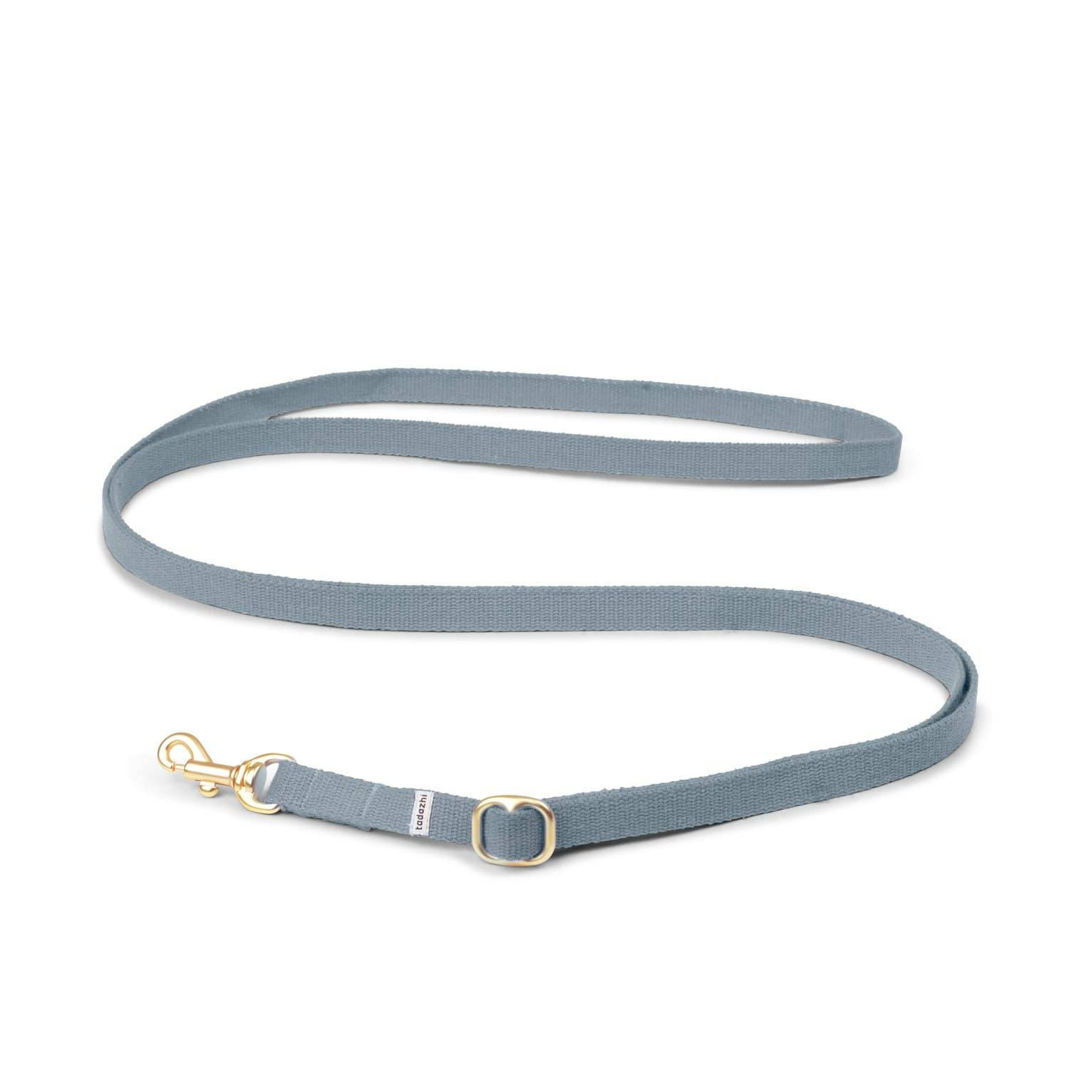Faded Blue - Adjustable Cotton Lead & Solid Brass Hardware - Holler Brighton