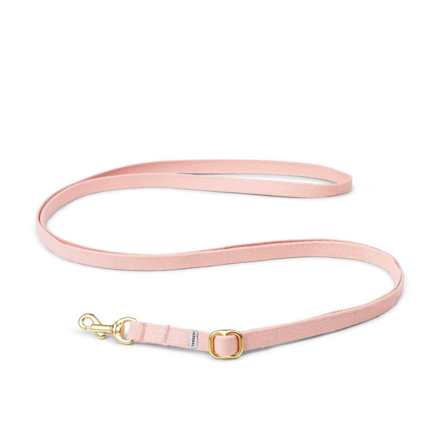 Powder Pink - Adjustable Cotton Lead & Solid Brass Hardware - Holler Brighton
