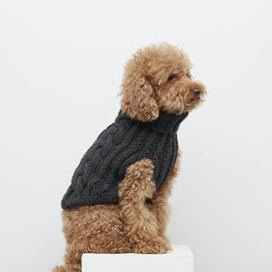 Anthracite - Merino & Cashmere Wool Jumper - Holler Brighton