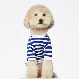 Navy & White - Long Sleeved Striped T-shirt - Holler Brighton