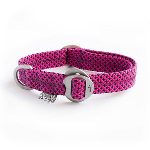Fuchsia Pink Fabric & Steel Collar - Holler Brighton