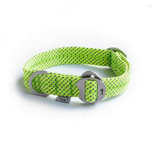 Lime Green Fabric & Steel Collar - Holler Brighton
