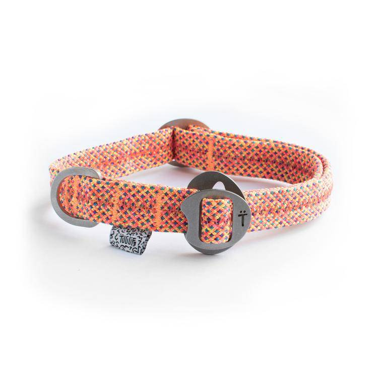 Orange Fabric & Steel Collar - Holler Brighton