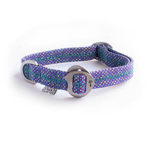 Purple Fabric & Steel Collar - Holler Brighton