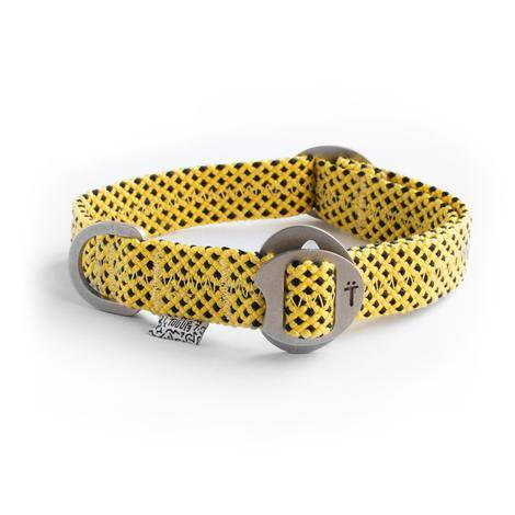 Yellow Fabric & Steel Collar - Holler Brighton