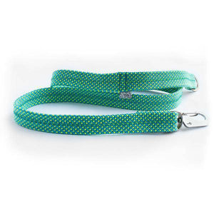 Green Teal Fabric Lead & Steel Hardware - Holler Brighton