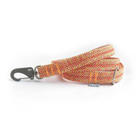 Orange Fabric Lead & Steel Hardware - Holler Brighton