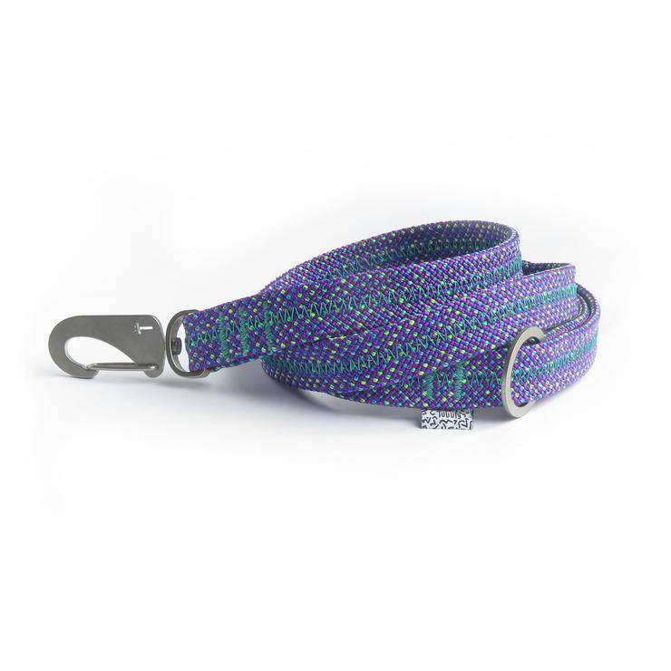 Purple Fabric Lead & Steel Hardware - Holler Brighton