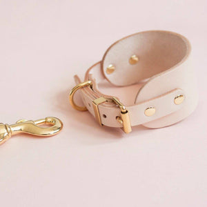 Nude - Leather Sighthound Collar - [Holler Brighton]