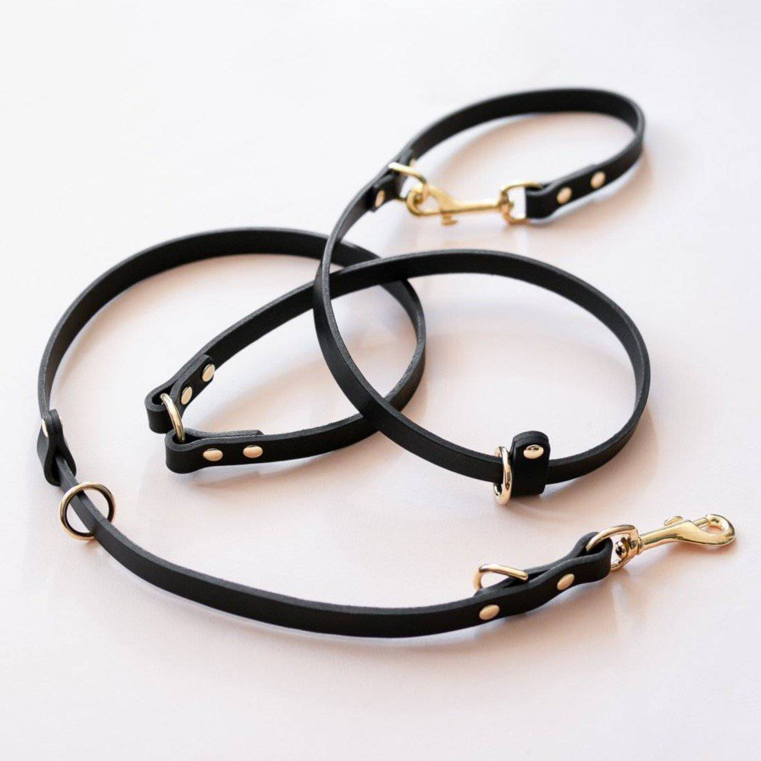 Black - Leather Multi-Lead - Holler Brighton
