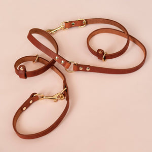 Caramel - Leather Multi-Lead - Holler Brighton