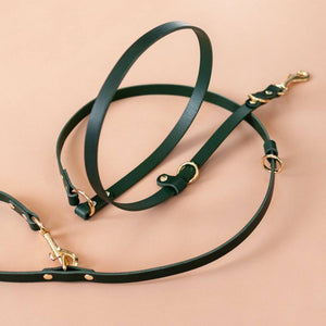 Green - Leather Multi-Lead - Holler Brighton