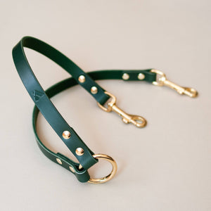 Green - Leather Twin Lead Extension - Holler Brighton