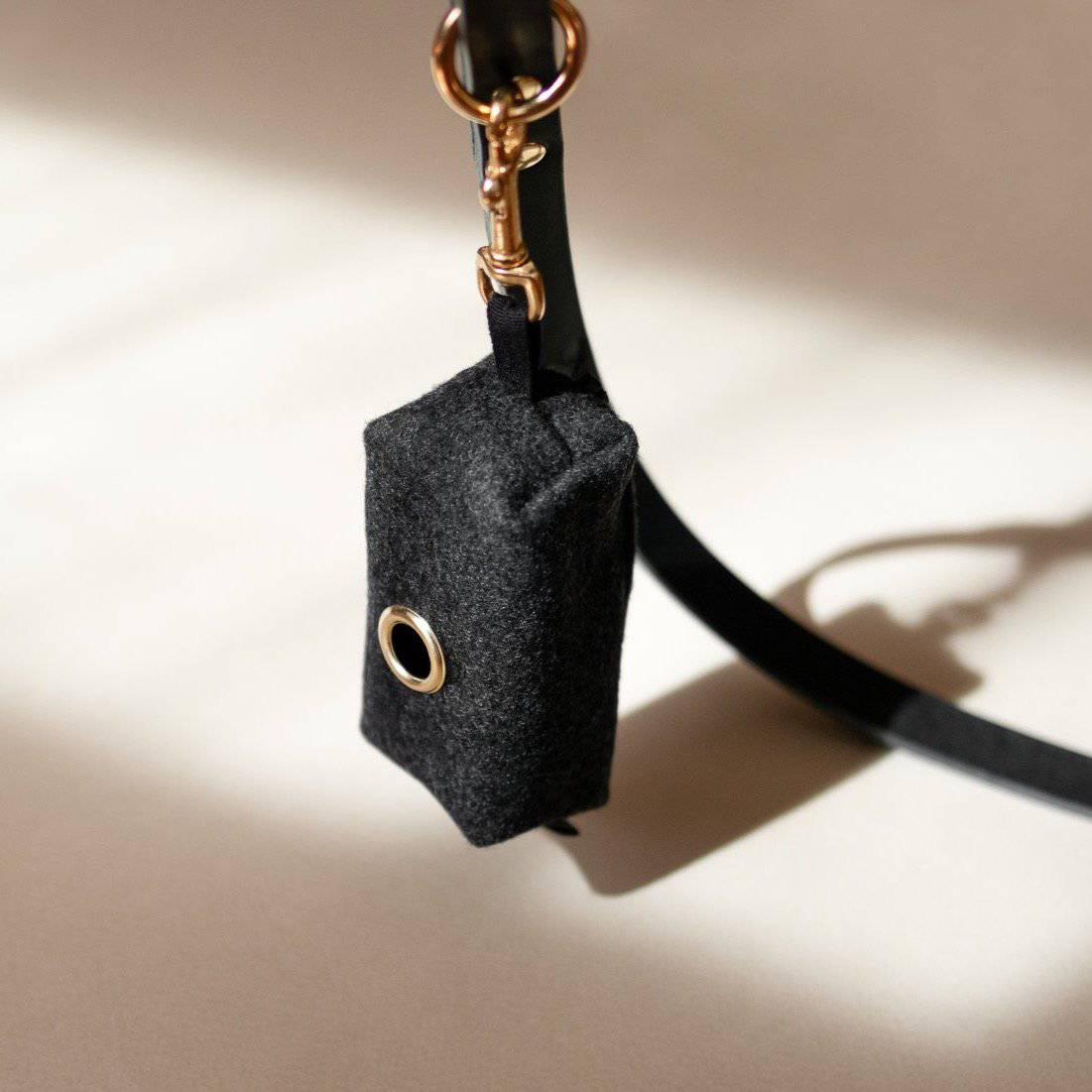 Anthracite  - Melton wool Poo bag holder - Holler Brighton