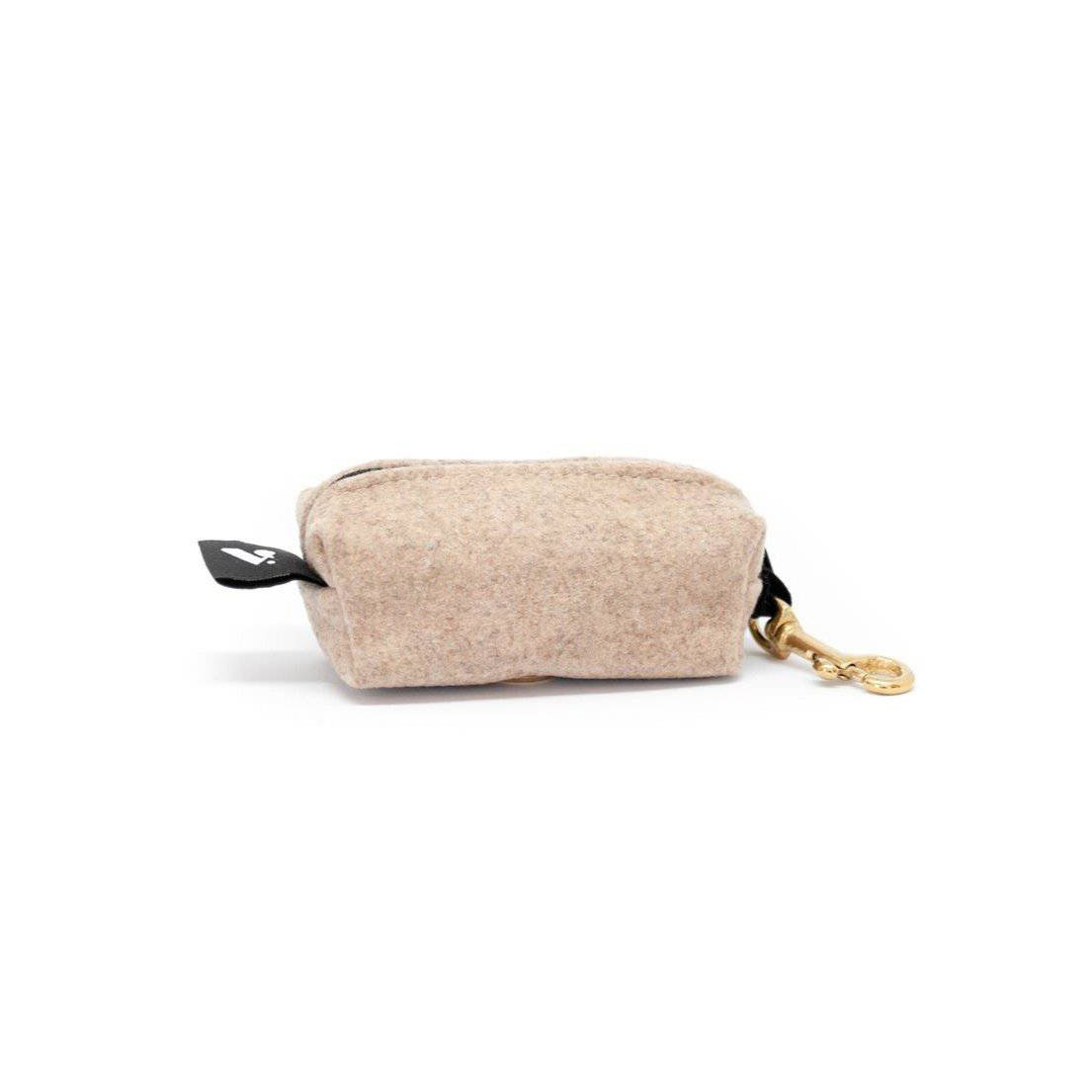Sand Colour - Melton Wool Poo bag holder - Holler Brighton