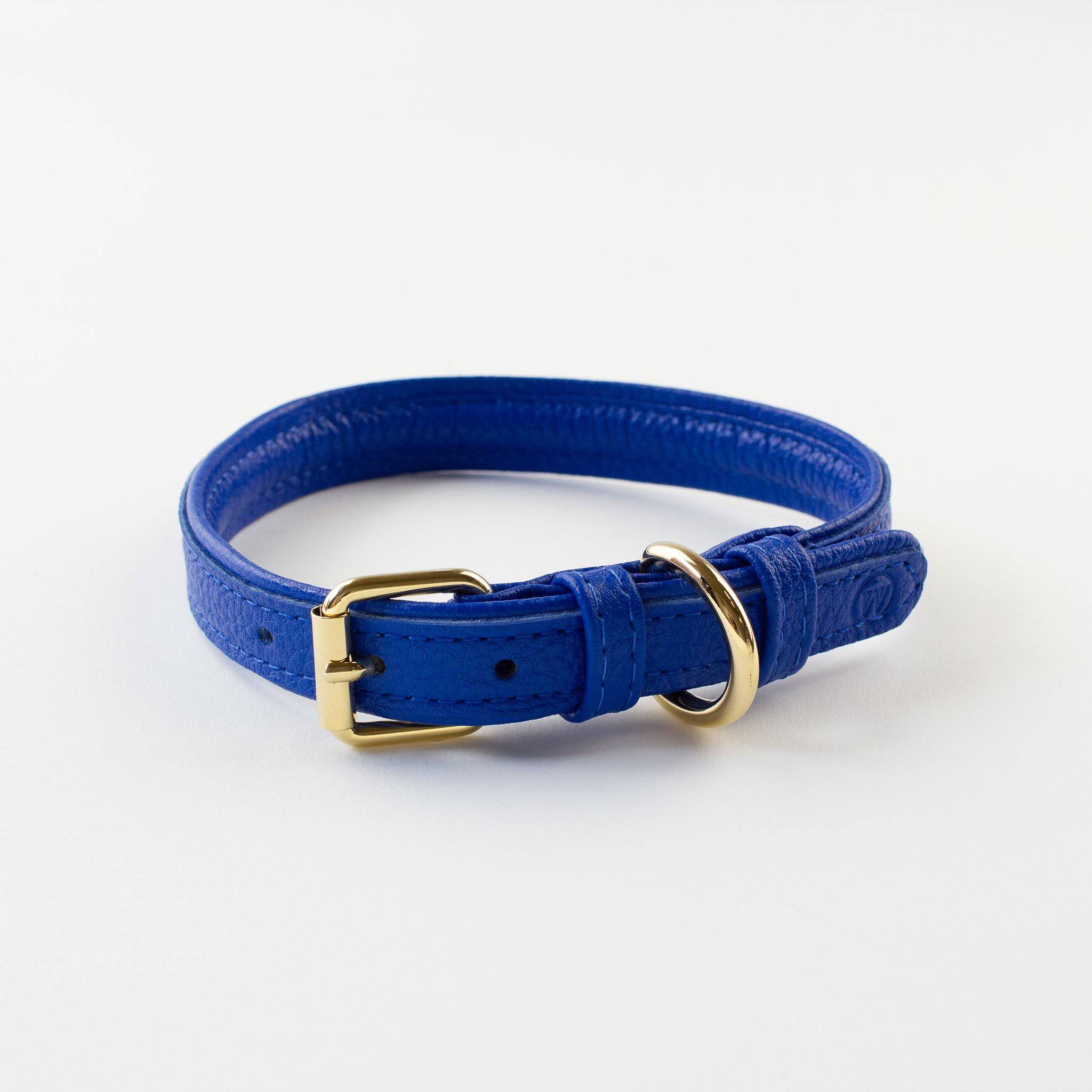 Blue - Leather Collar - [Holler Brighton]