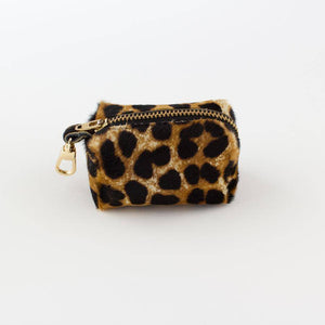 Leopard - Leather Poo Bag Holder - [Holler Brighton]
