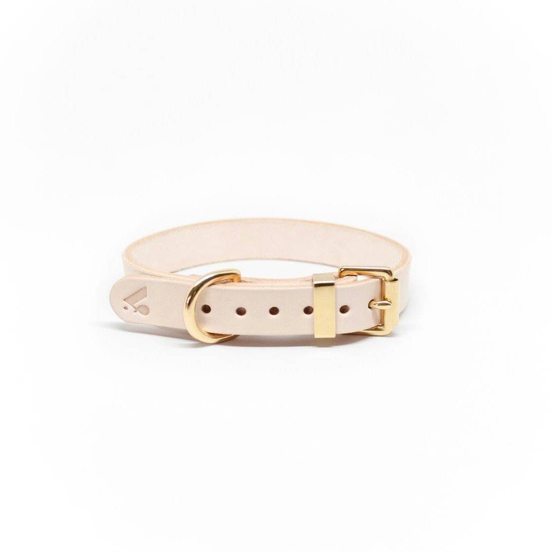 Nude - Classic Leather Collar - Holler Brighton