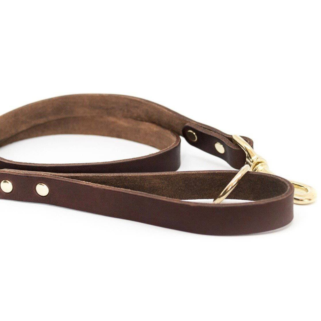 Coffee -  Classic Leather Lead - Holler Brighton