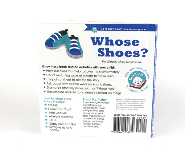 Whose Shoes? - Duo Set: Board Book & Song (age 2+)