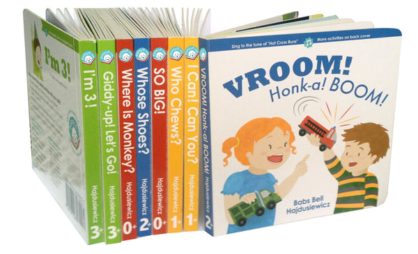 Babsy B Board Book Series - 8 Books & 8 Songs  (Ages 0 - 3+)