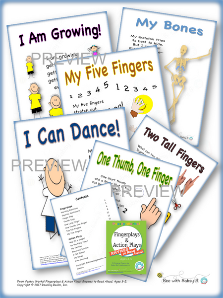 Poetry Works! Fingerplays & Action Plays: Rhymes to Read Aloud, Ages 3–5 (Digital Download)