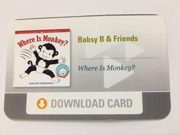 """Where Is Monkey?"" Download Card"