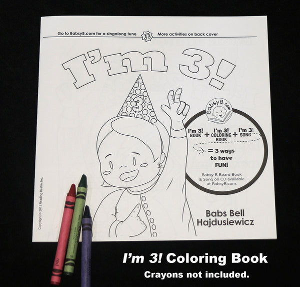 5-pack––I'm 3! Companion Coloring Book