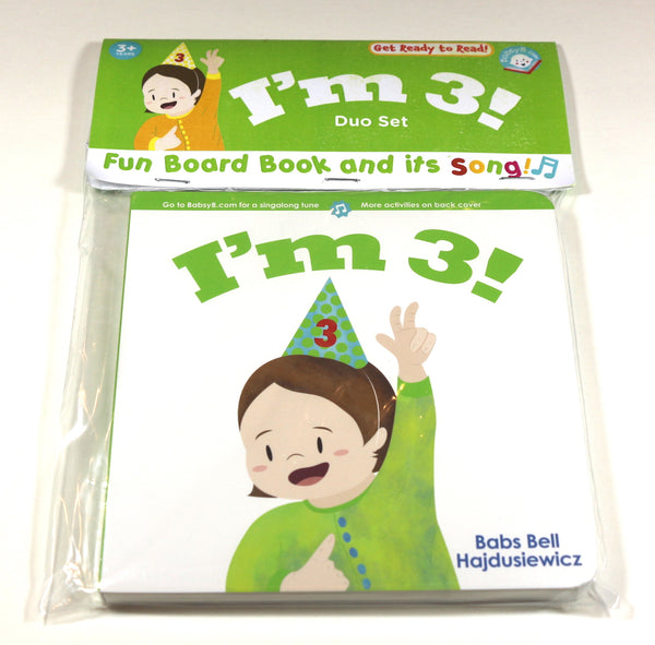 I'm 3!   - Duo Set: Board Book & Song (age 3+)