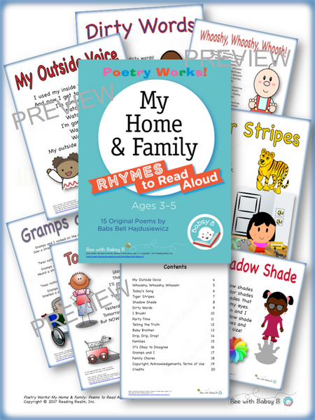 Poetry Works! My Home & Family: Rhymes to Read Aloud, Ages 3–5 (Digital Download)