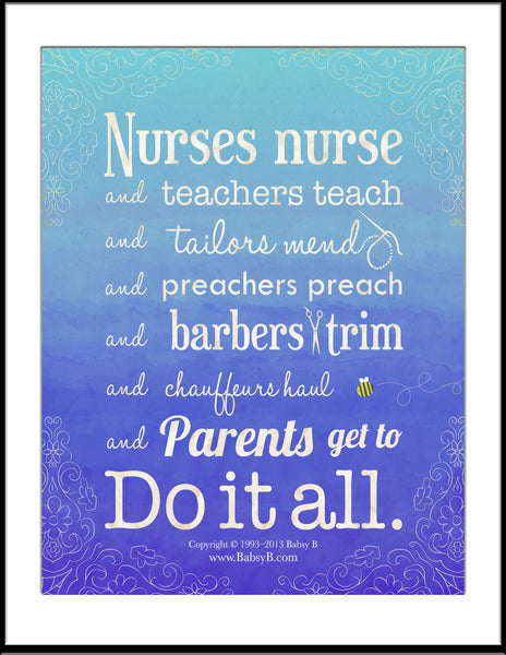 Parents Do It All! - Poster