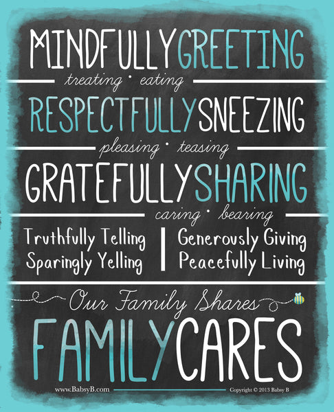 Family Cares- Blue