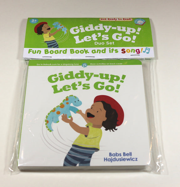 Giddy-up! Let's Go! - Duo Set: Board Book  & Song (age 3+)