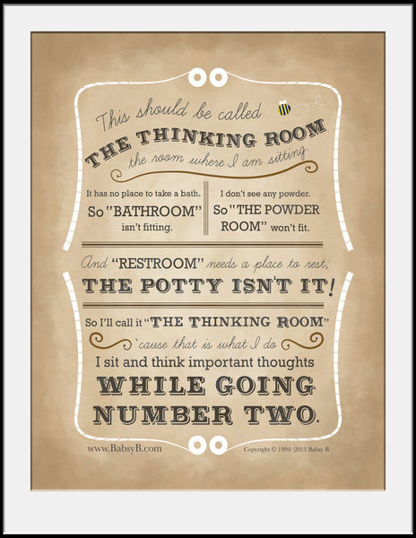 The Thinking Room - Poster