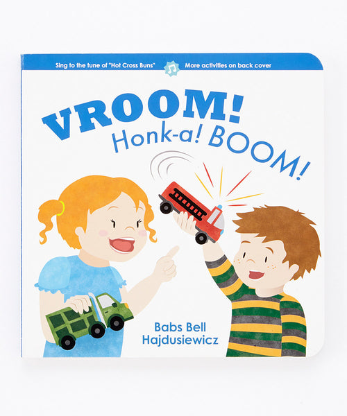 VROOM! Honk-a! BOOM!  - Duo Set: Board Book & Song (age 2+)