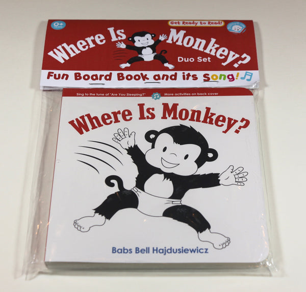 Where Is Monkey? - Duo Set: Board Book & Song (age 0+)