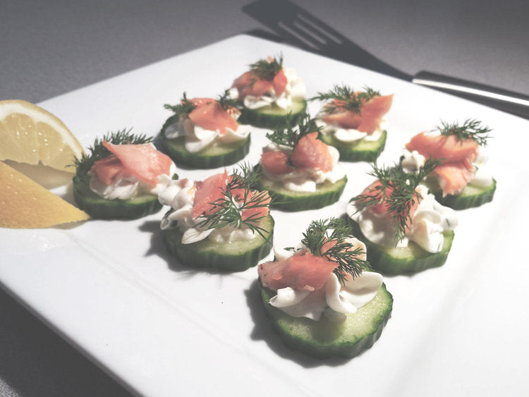 Smoked Trout Cucumber Bites