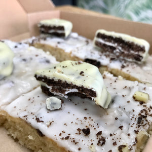 White Chocolate Cookies and Cream Brownies