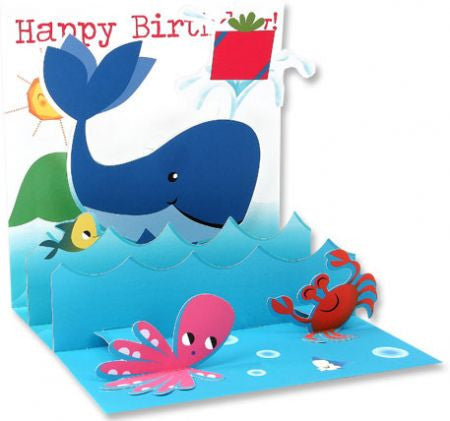 Big Blue Whale Pop up card