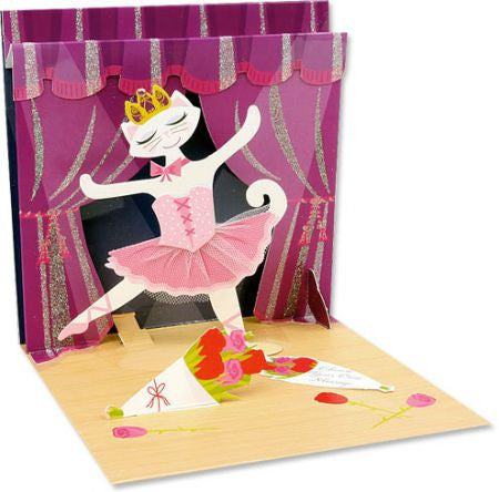 Ballerina Cat Pop up card