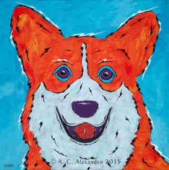 CORGI - ORIGINAL Painting - Did You Say Treats?
