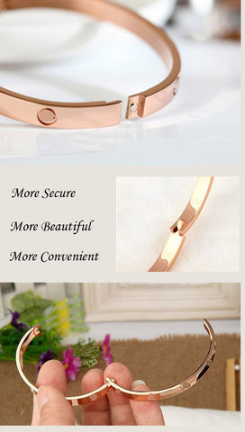 Stainless Steel Cuff Bracelet: ROSE GOLD