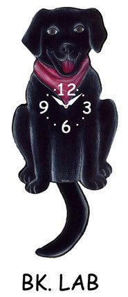 Clock Black Lab