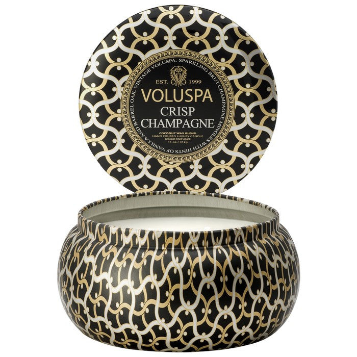 Crisp Champagne 11oz Tin candle