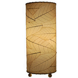 Cocoa Leaf Cylinder Table Lamp - Natural