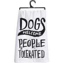 Dogs Welcome Towel