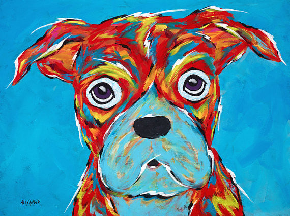"Angela Alexander Print ""I'm Still a Good Dog""  11""x17"""